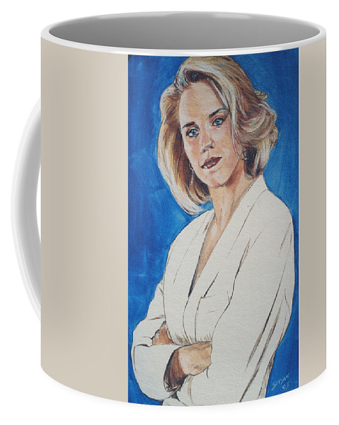 Cami Cooper Coffee Mug featuring the painting Cami Cooper by Bryan Bustard