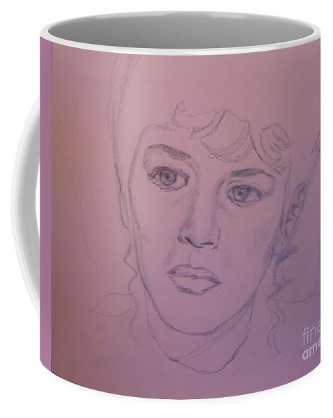 Camille Claudel Coffee Mug featuring the drawing Camille Drawing by Guy C Lockwood