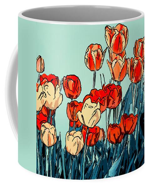 Steve Harrington Coffee Mug featuring the photograph Camille's Tulips - Version 3 by Steve Harrington