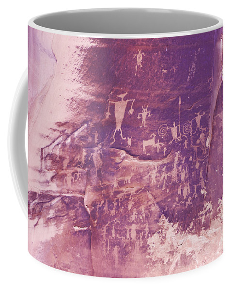 Petroglyph Coffee Mug featuring the photograph Camp Fire Story by Louise Magno