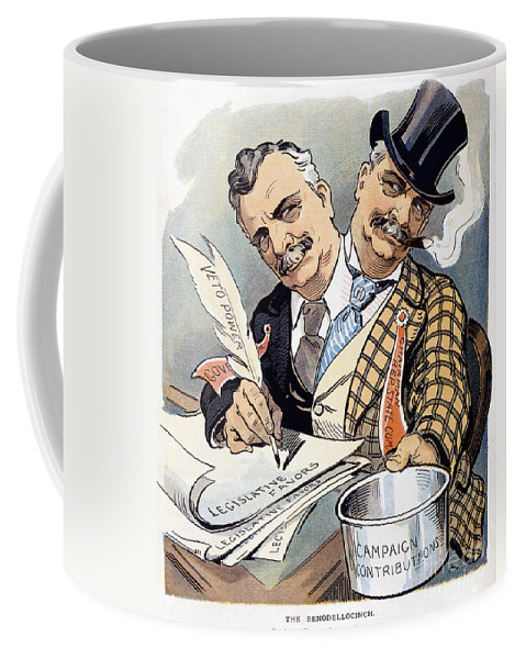 1904 Coffee Mug featuring the photograph Campaign Contributions by Granger