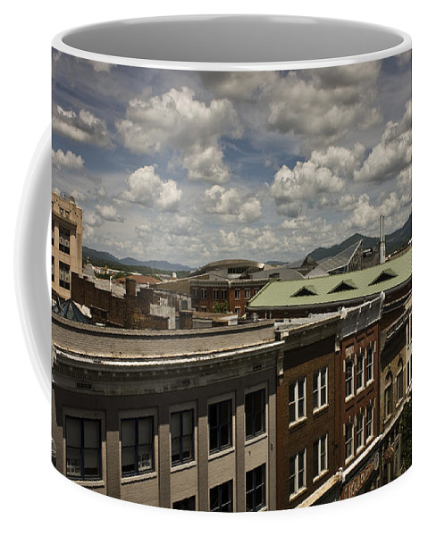 Cityscape Coffee Mug featuring the photograph Campbell Avenue Rooftops Roanoke Virginia by Teresa Mucha