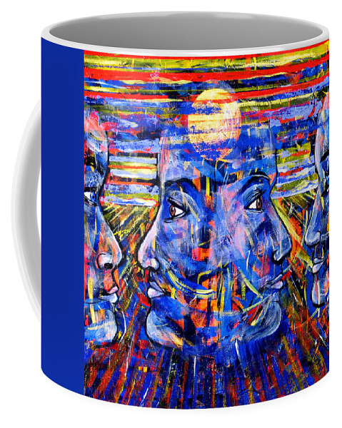 Confrontation Coffee Mug featuring the painting Can Not Live A Lie by Rollin Kocsis