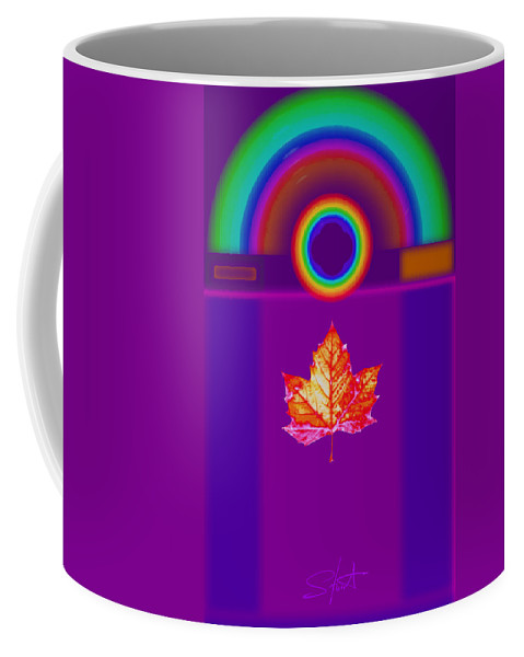 Classical Coffee Mug featuring the digital art Canadian Palladian by Charles Stuart
