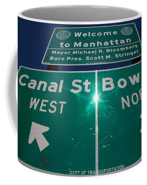 Pop Art Coffee Mug featuring the photograph Canal And Bowery by Rob Hans