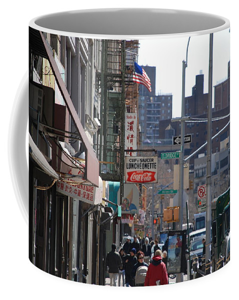 Architecture Coffee Mug featuring the photograph Canal And Eldridge by Rob Hans