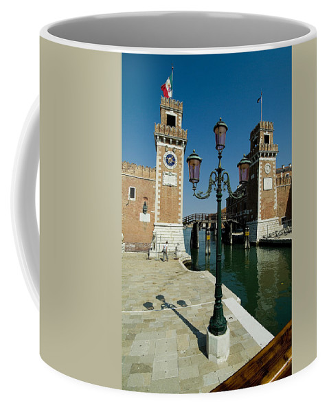 Photography Coffee Mug featuring the photograph Canal Leading Into The Arsenale by Todd Gipstein