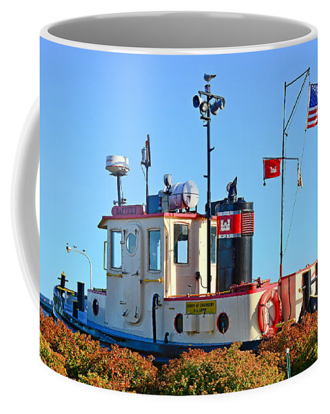 Canal Coffee Mug featuring the photograph Canal Park Dry Dock by Robert Meyers-Lussier
