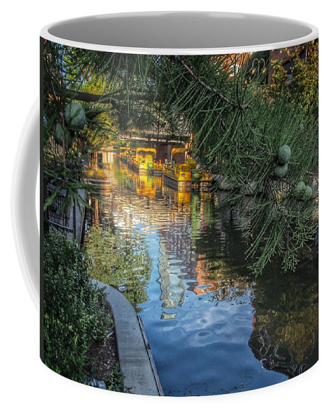 Cypress Coffee Mug featuring the photograph Canal View by Buck Buchanan