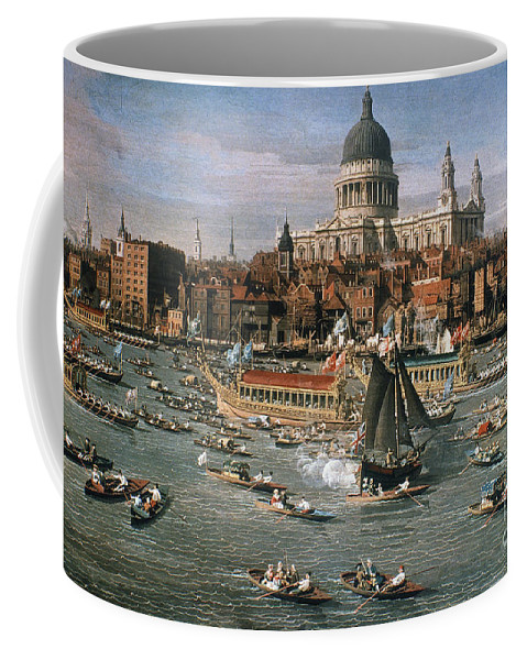 18th Century Coffee Mug featuring the photograph Canaletto: Thames, 18th C by Granger