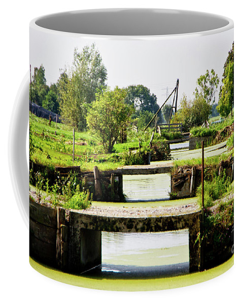 Bridge Coffee Mug featuring the photograph Canals And Bridges by Adriana Zoon