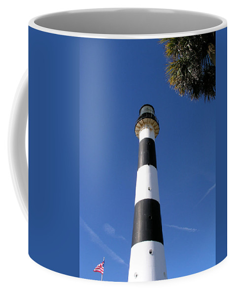 Cape; Canaveral; Light; Lighthouse; Lighthousekeeper; Keeper; Stairs; Kennedy; Space; Center; Air; F Coffee Mug featuring the photograph Canaveral Light by Allan Hughes