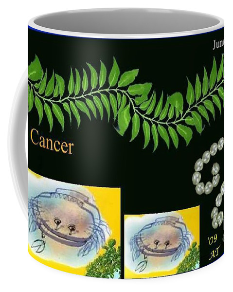 Cancer Coffee Mug featuring the digital art Cancer With William Baumol by The Art of Alice Terrill