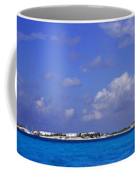 Ocean Coffee Mug featuring the photograph Cancun by Jean Haynes