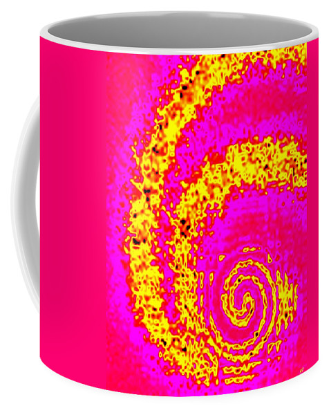 Abstract Coffee Mug featuring the digital art Candid Color 3 by Will Borden