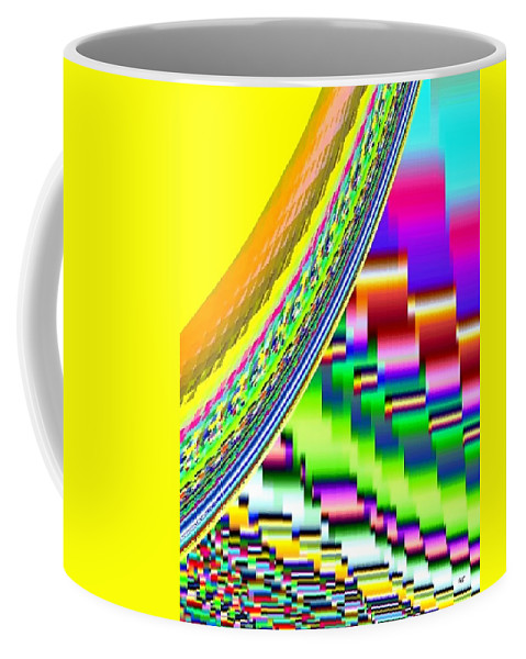 Abstract Coffee Mug featuring the digital art Candid Color 6 by Will Borden