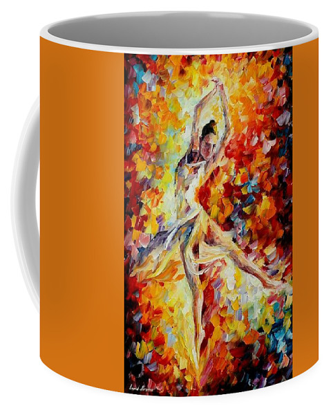 Danse Coffee Mug featuring the painting Candle Fire by Leonid Afremov