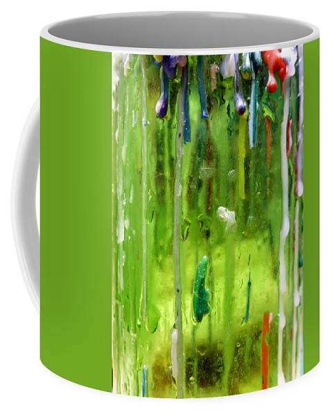 Abstract Art Coffee Mug featuring the photograph Candleholder Glow by Elaine Bawden