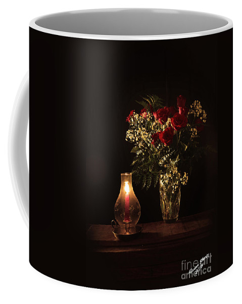 Flower Coffee Mug featuring the photograph Candlestick And Roses by Aaron Shortt