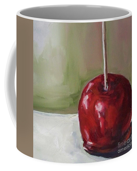 Candy Coffee Mug featuring the painting Candy Apple by Kristine Kainer