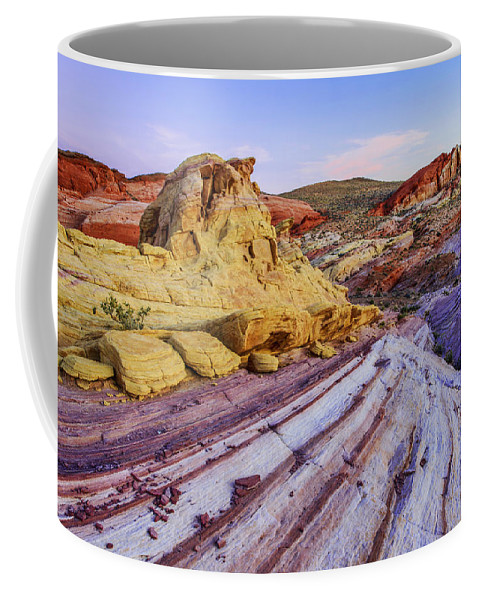 Candy Cane Desert Coffee Mug featuring the photograph Candy Cane Desert by Chad Dutson