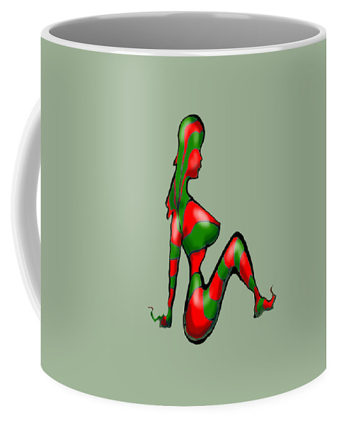 Candy Coffee Mug featuring the digital art Candy Cane Gang by Kevin Middleton