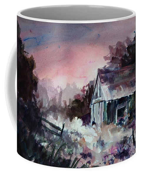 Shack Coffee Mug featuring the painting Candy Cane by Rachel Christine Nowicki