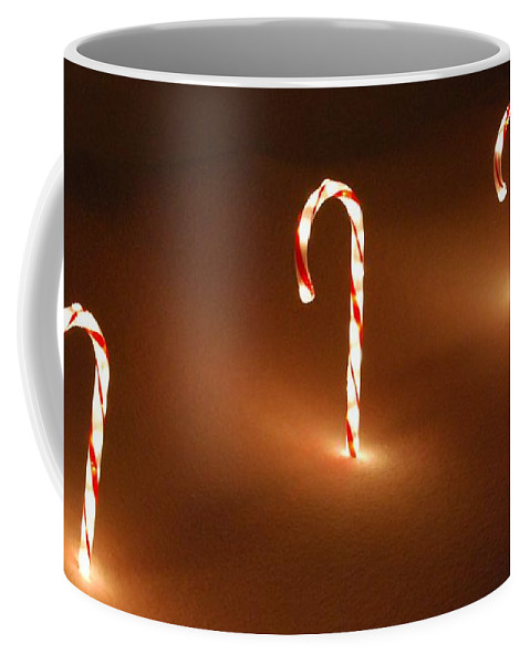 Candy Cane Coffee Mug featuring the photograph Candy Canes by Eric Liller