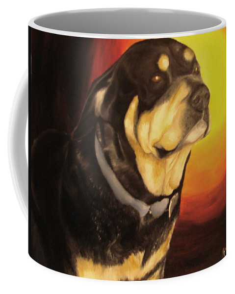Paintings Coffee Mug featuring the painting Canine Vision by Glory Fraulein Wolfe