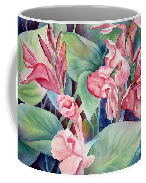 Canna Coffee Mug featuring the painting Canna by Deborah Ronglien