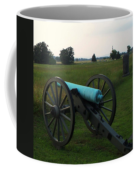 Coffee Mug featuring the photograph Cannon At Gettysburg 2 by Eric Schiabor