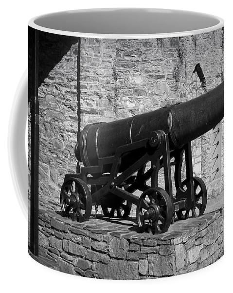Irish Coffee Mug featuring the photograph Cannon At Macroom Castle Ireland by Teresa Mucha