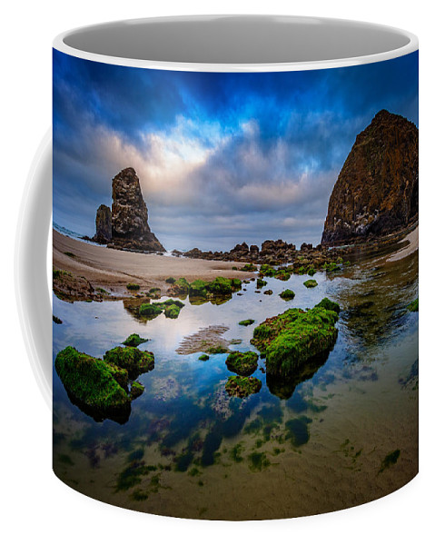 Haystack Rock Coffee Mug featuring the photograph Cannon Beach by Rick Berk