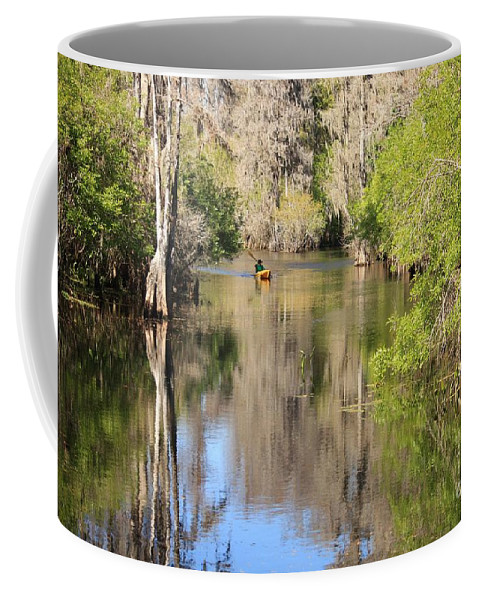 Hillsborough River Coffee Mug featuring the photograph Canoing On Hillsborough River by Carol Groenen