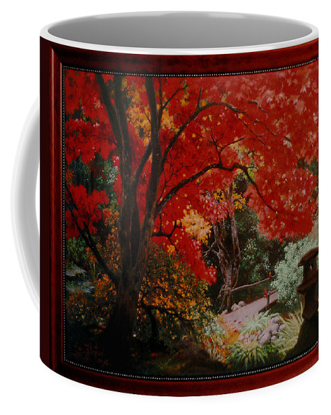 Oriental Coffee Mug featuring the painting Canopy Of Red by Stephen Lucas
