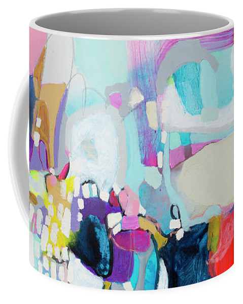 Abstract Coffee Mug featuring the painting Can't Wait by Claire Desjardins