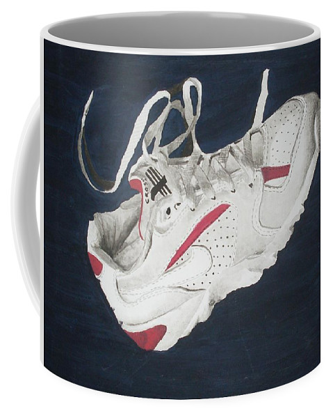 Shoes Coffee Mug featuring the painting Canvass by Olaoluwa Smith