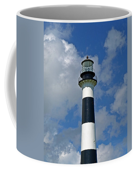 Lighthouse; Light; Canaveral; Cape; Cape Canaveral; Ccafs; Florida; East; Coast; Kennedy; Space; Cen Coffee Mug featuring the photograph Canveral Light Florida by Allan Hughes