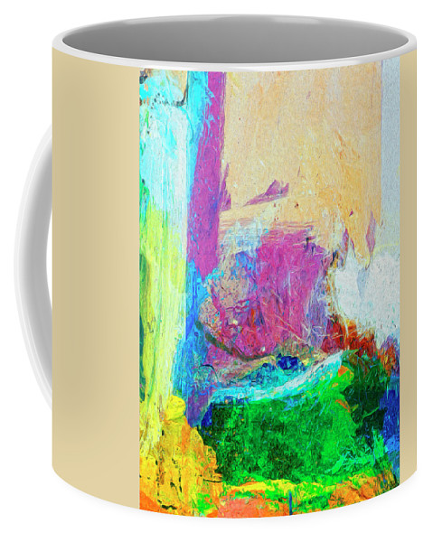 Abstract Coffee Mug featuring the painting Canyon De Chelly by Dominic Piperata