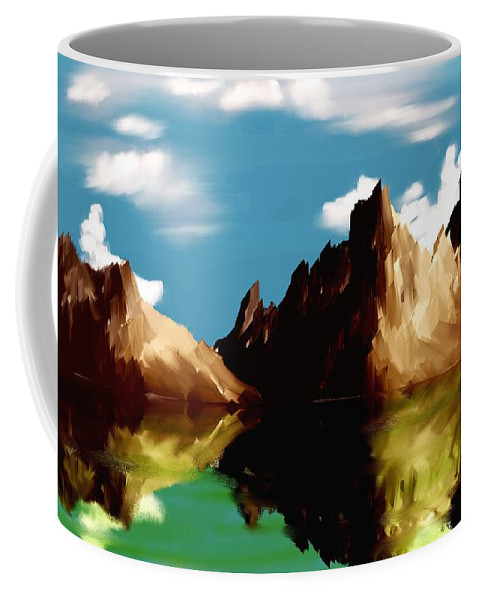 Digital Art Coffee Mug featuring the digital art Canyon Lake by David Lane