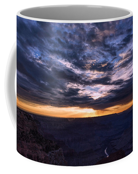 Landscape Coffee Mug featuring the photograph Canyon Light Show by John M Bailey