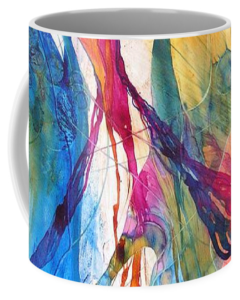 Mulicolored Coffee Mug featuring the painting Canyon Sunrise by Annika Farmer