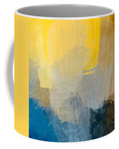Sun Coffee Mug featuring the painting Canyon Sunrise by Chris Fulks