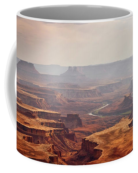 Canyonlands Coffee Mug featuring the photograph Canyonlands Panorama by Delphimages Photo Creations