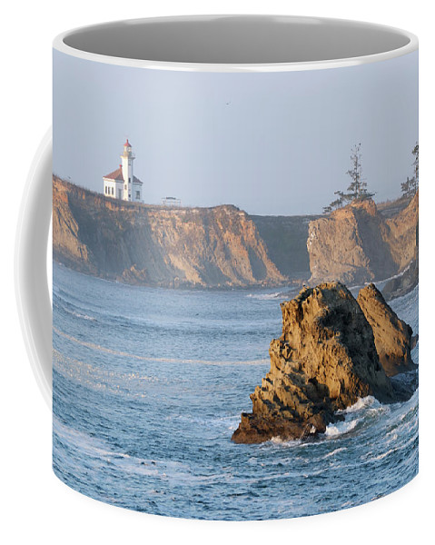 Lighthouse Coffee Mug featuring the photograph Cape Arago Lighthouse by Betty LaRue