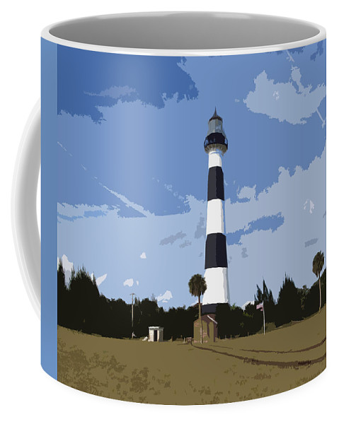 Cape Coffee Mug featuring the painting Cape Canaveral Light by Allan Hughes