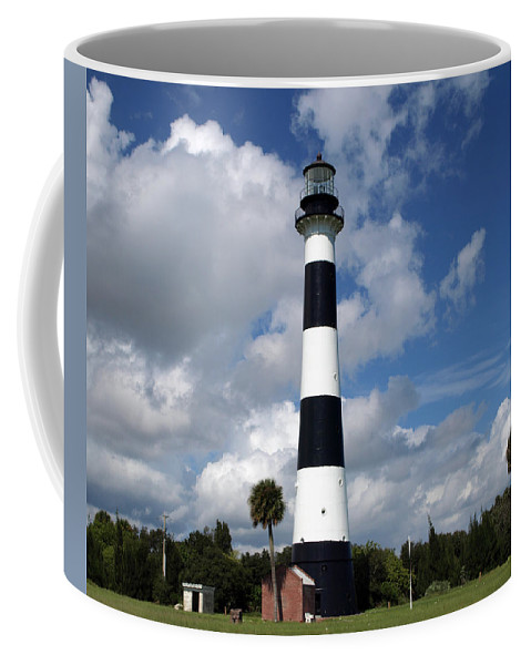 Lighthouse; Light; Canaveral; Cape; Cape Canaveral; Ccafs; Florida; East; Coast; Kennedy; Space; Cen Coffee Mug featuring the photograph Cape Canaveral Light Florida by Allan Hughes