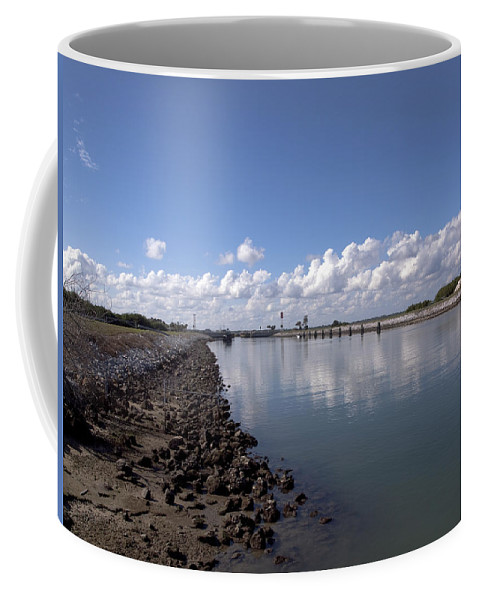 Florida Coffee Mug featuring the photograph Cape Canaveral Locks Florida by Allan Hughes