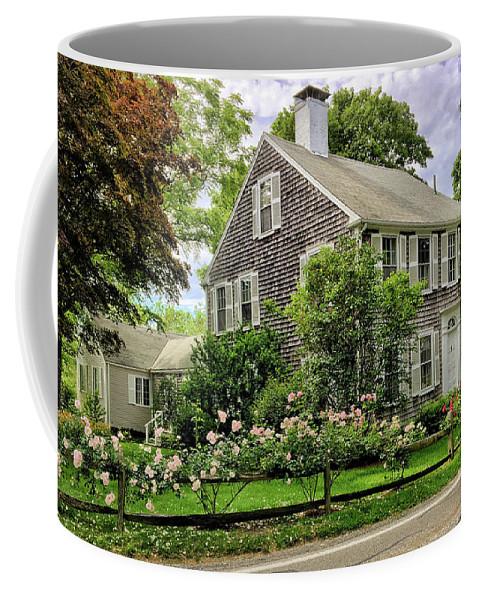 Cape Cod Coffee Mug featuring the photograph Cape Cod Floral by Andrea Platt
