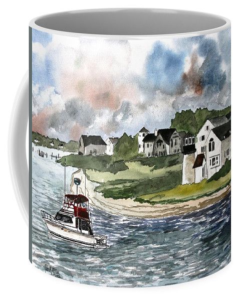 Lighthouse Coffee Mug featuring the painting Cape Cod Lighthouse by Derek Mccrea